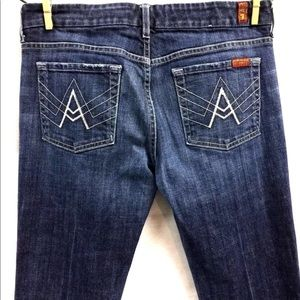 7 Seven For All Mankind A Pocket Boot Jeans 30x27